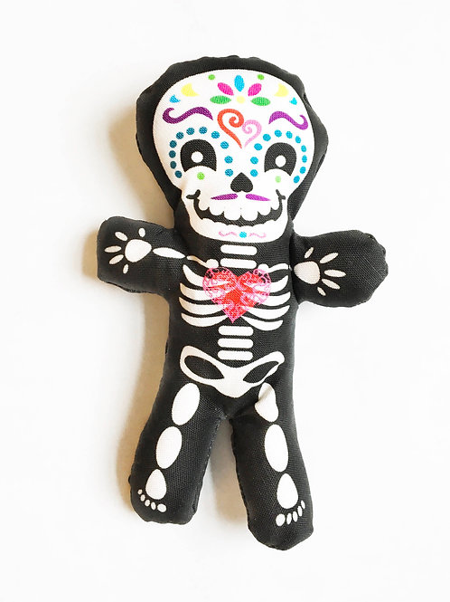 """Day of the Dead decor - Halloween 7"""" skeleton fun individual doll"""