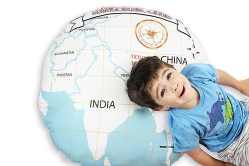 World Map - Map to Yeti floor pillow