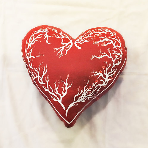 Red Valentines Heart Pillow