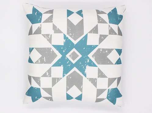 Primitive Snowflake Throw pillow - All Silver