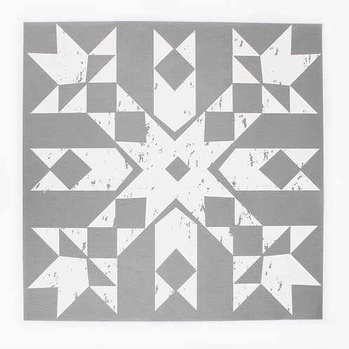 Primitive Snowflake placemat in All Silver
