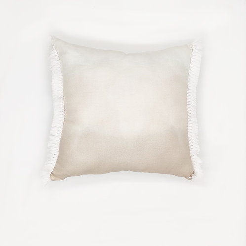 Sand Ombre Fringed Pillow