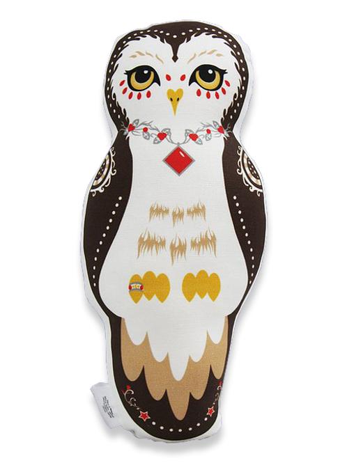 Owl Doll Pillow - Brown Oberon Owl