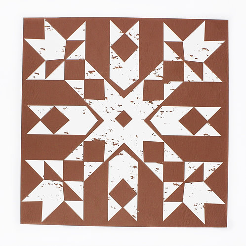 Primitive Snowflake placemat in Tan-Complete