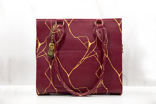 Kintsugi Hand Bag-Burgundy