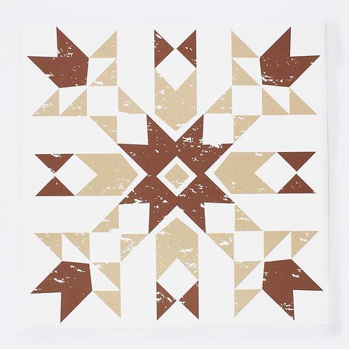 Primitive Snowflake placemat in Tan