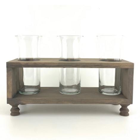 Three Vase Wood Stand