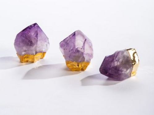 Amethyst Point Crystal with Gold Base