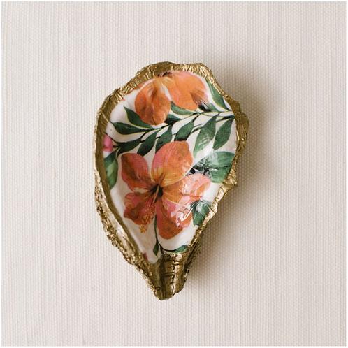 Hibiscus- Clam Shell Ring Holder/Salt Cellar