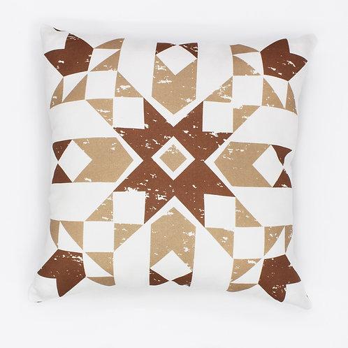 Primitive Snowflake Throw pillow - Tan