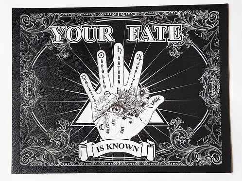 Palmistry Fortune Vegan Leather Place Mat