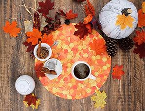 Fall Orange Vegan Leather Placemat