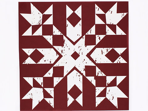 Red primitive snowflake placemat