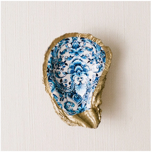 Indigo Blue- Clam Shell Ring Holder/Salt Cellar
