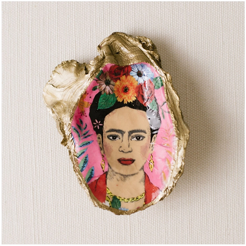 Frida Kahlo- Clam Shell Ring Holder/Salt Cellar