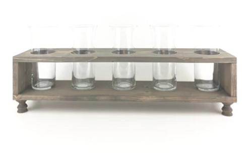 Five Vase Wood Stand