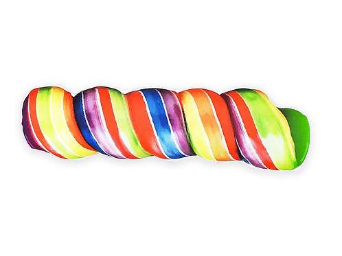 Rainbow Twist Pop Pillow Plushie Softie