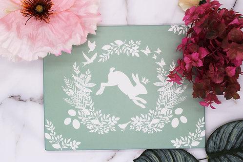 Spring Bunny Serving Platter