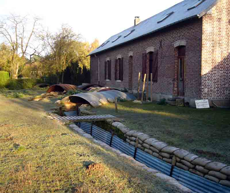 New farmhouse, original trenches