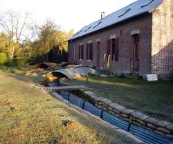 New farmhouse, original trenches