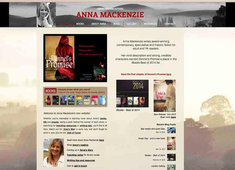 Home page annamackenzieauthor.com