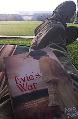 Evie at Victoria Falls
