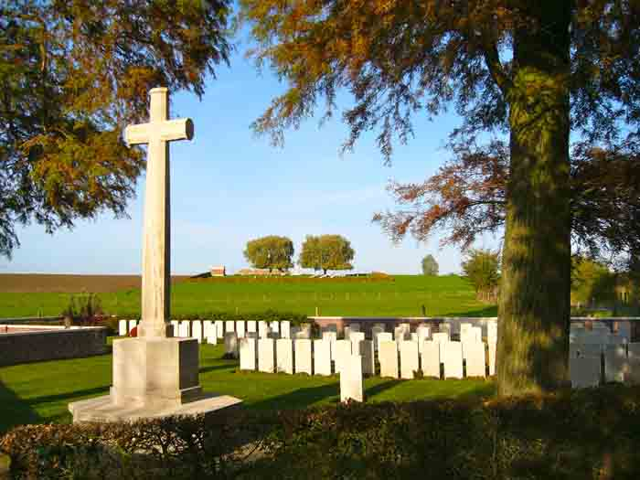 Mud Corner and Prowse Point cemeteries, near Ploegsteert Wood