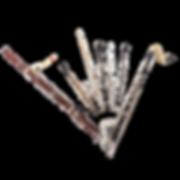 Woodwind instruments: bassoon, oboe, flute, clarinet