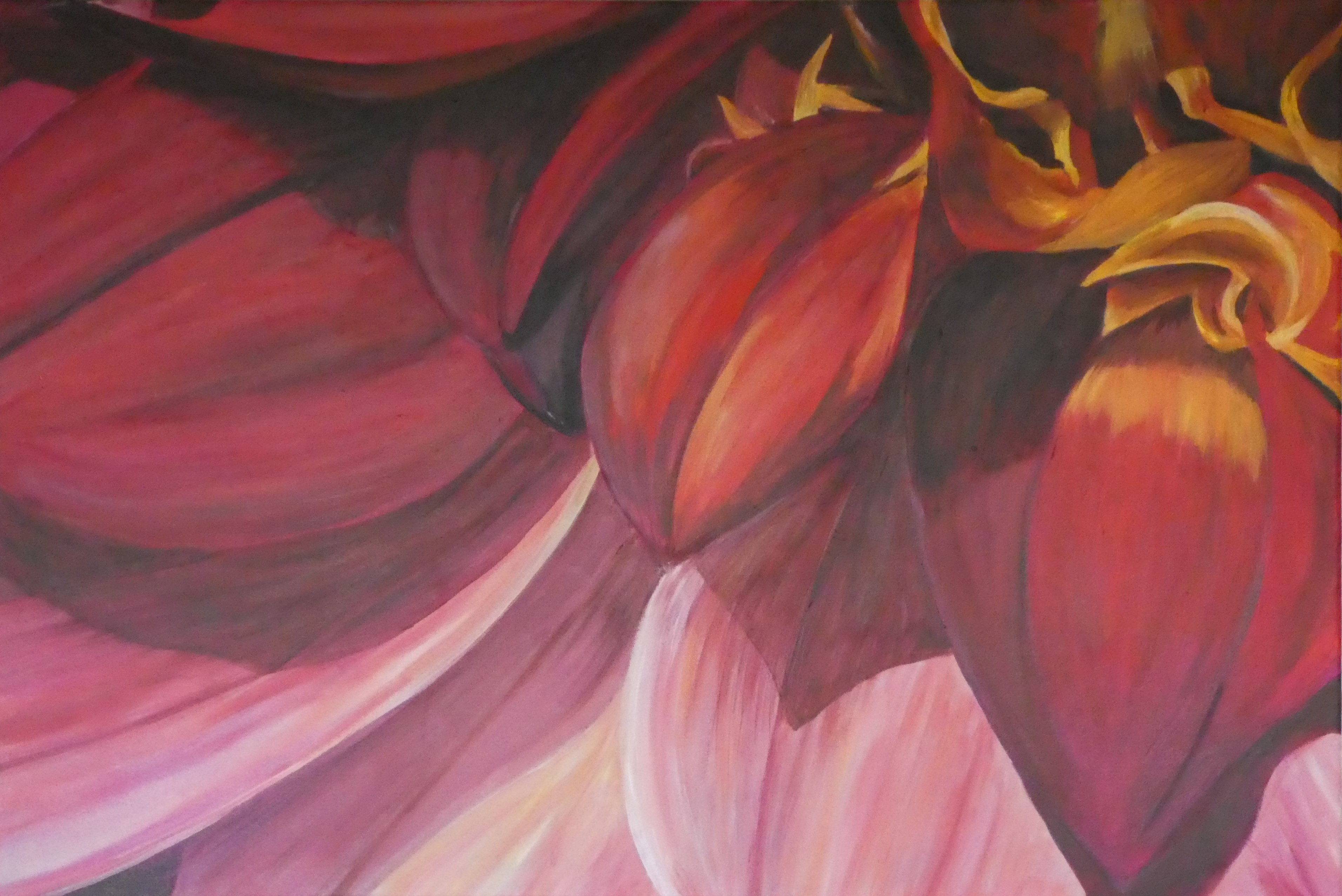 Fiery Dahlia by Audrey Bowling