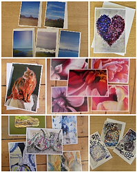 Cards collage