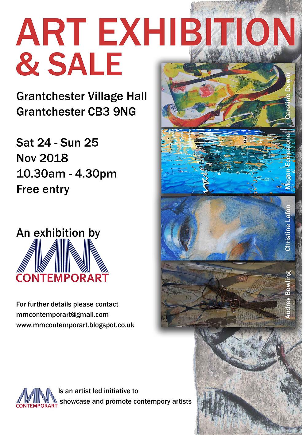 Art Exhibition Grantchester Village Hall Poster