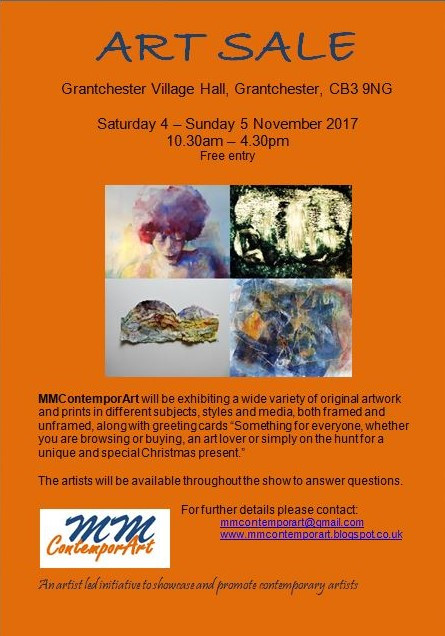 Flyer for Art Sale, Grantchester, 4-5 November