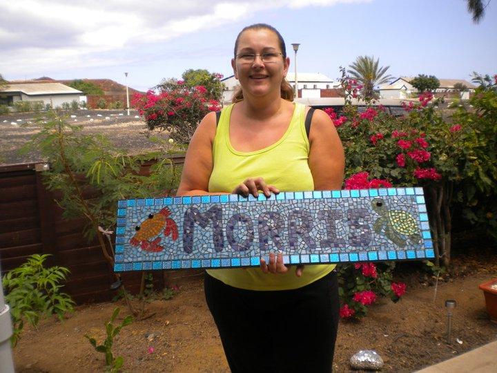 Heather Morris's Name plaque