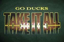 Oregon Ducks Football Screenprint