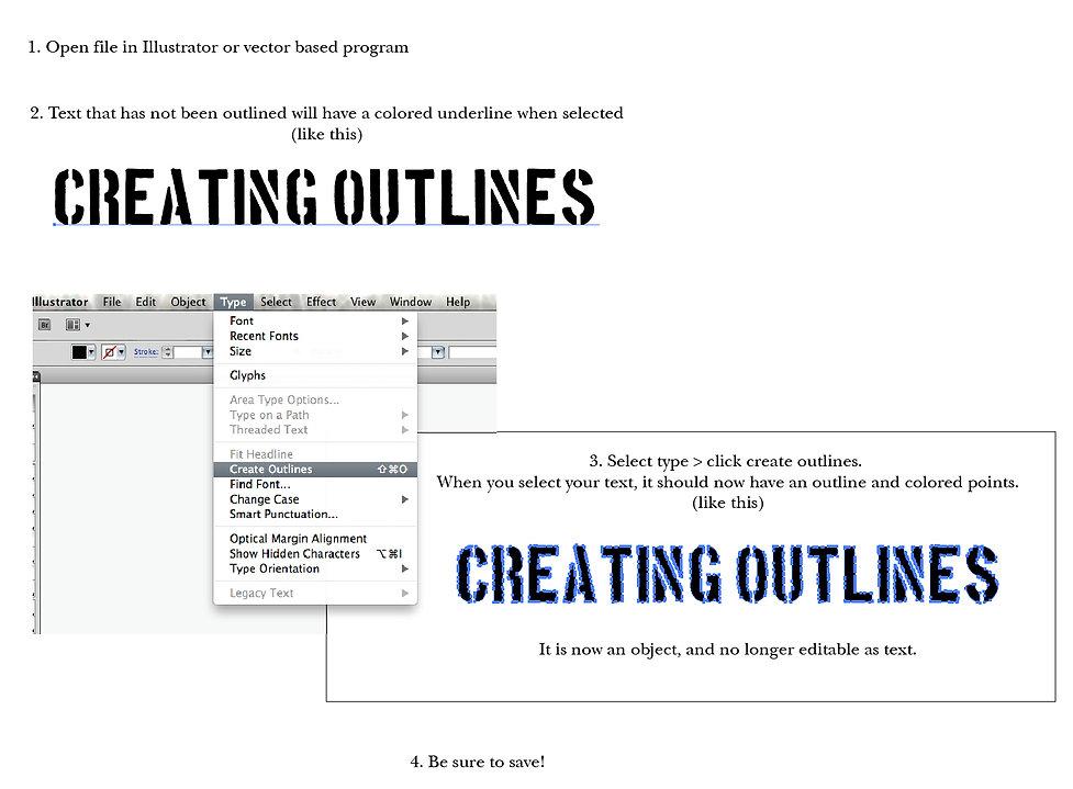 Creating Outlines in Adobe Illustrator