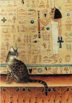 Egyptian Cat Digital Garment Print