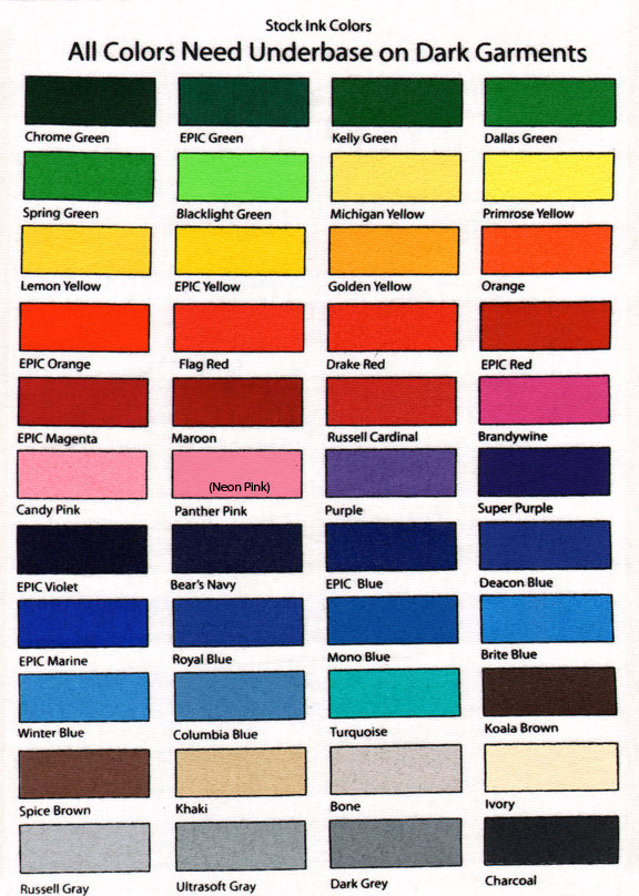 Stock Ink Colors Triangle Graphics