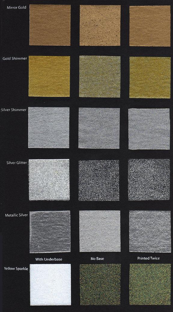 Stock Metallic Ink Colors