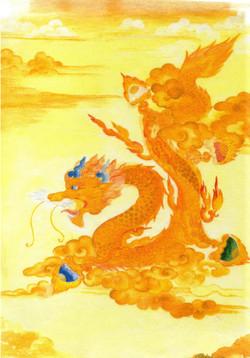 Golden Dragon Digital Garment Print