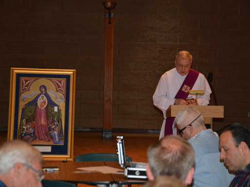St. Francis Knights Hold Prayer Service with Marian Icon