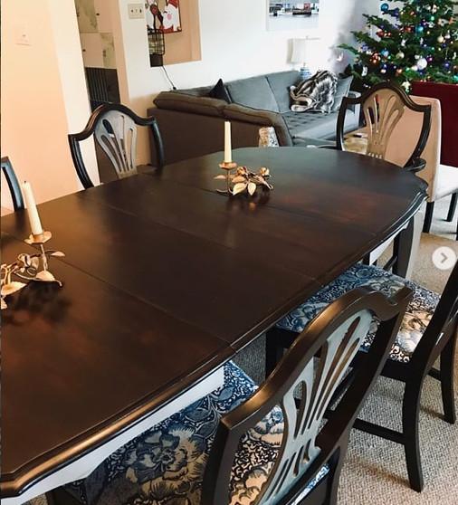 large dining set