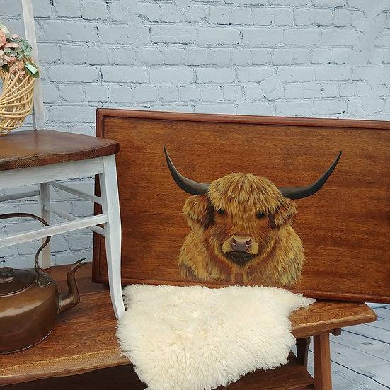 Farmhouse Highland Cow Coffee Table
