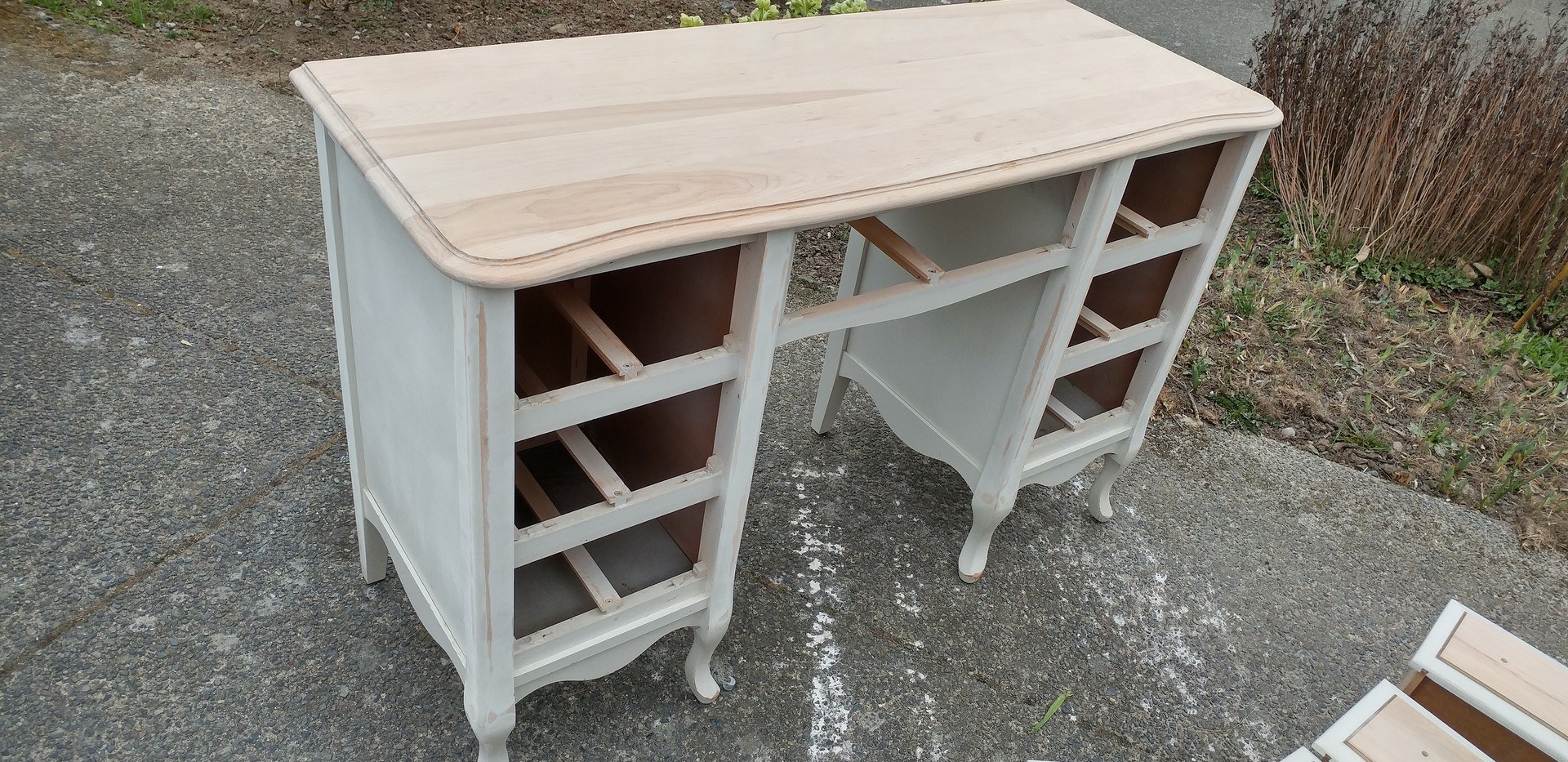 french prov desk dresser top stripped