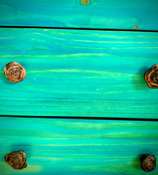 Wood dye and custom knobs