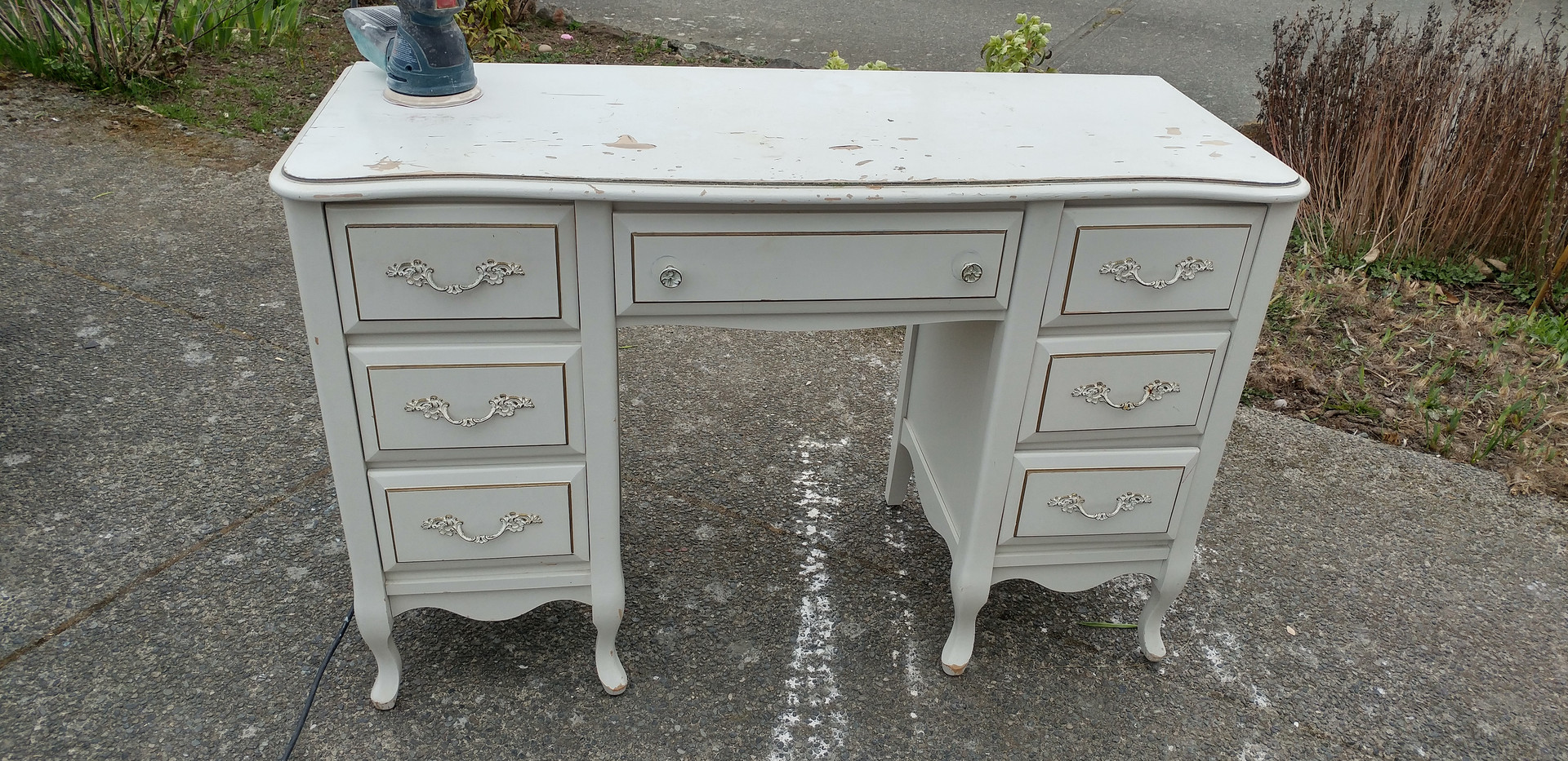 french provincial dresser desk before