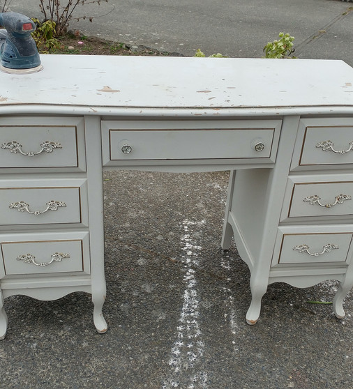 french provincial dresser desk before