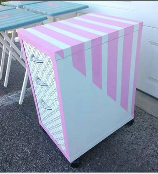 Pink filing cabinet