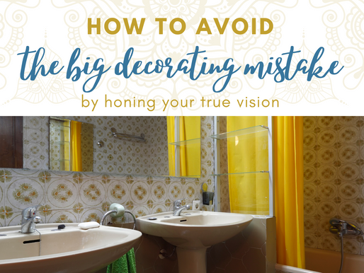 The BIG common MISTAKE people make when decorating.... and how to avoid it.