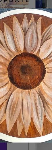 Sunflower stain art