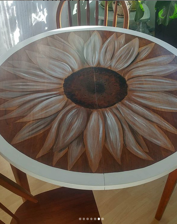 Wood Stain Art Table